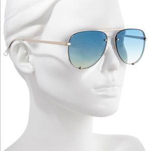 Quay x Desi Perkins High Key Rimless Sunglasses